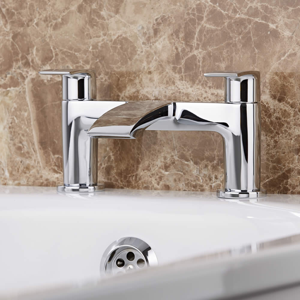 Milano Razor Chrome Bath Filler Tap