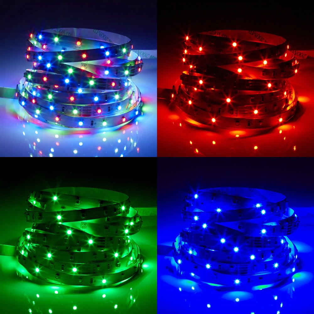 Biard LED IP20 5m 3528 Strip Light - RGB