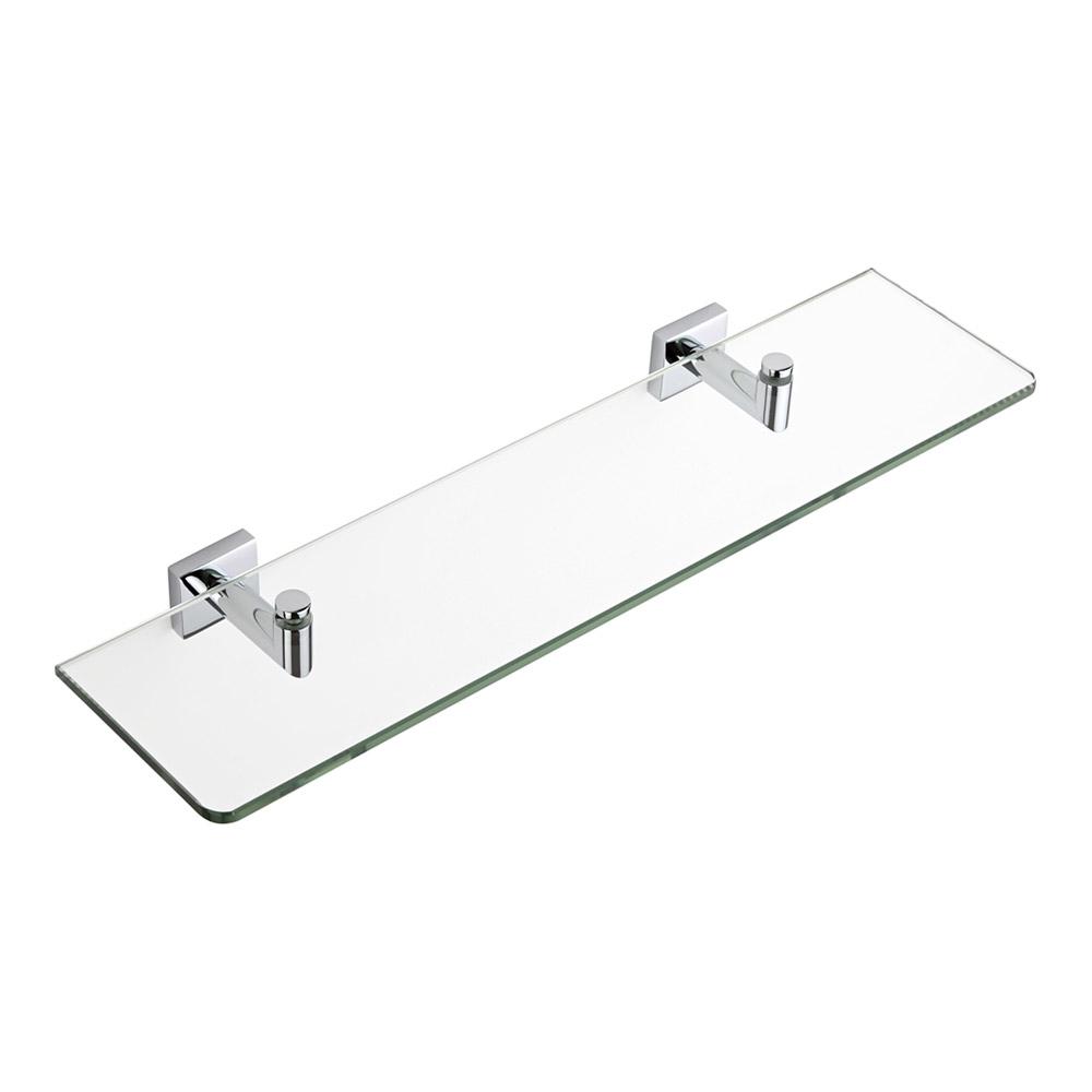 Milano Liso Chrome Glass Shelf