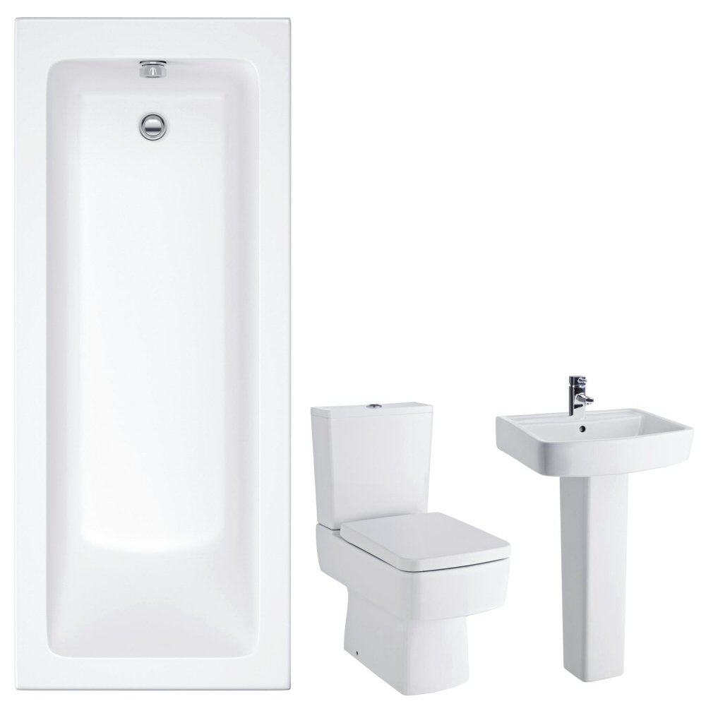 Premier Bliss 1700mm Straight Square Bathroom Suite