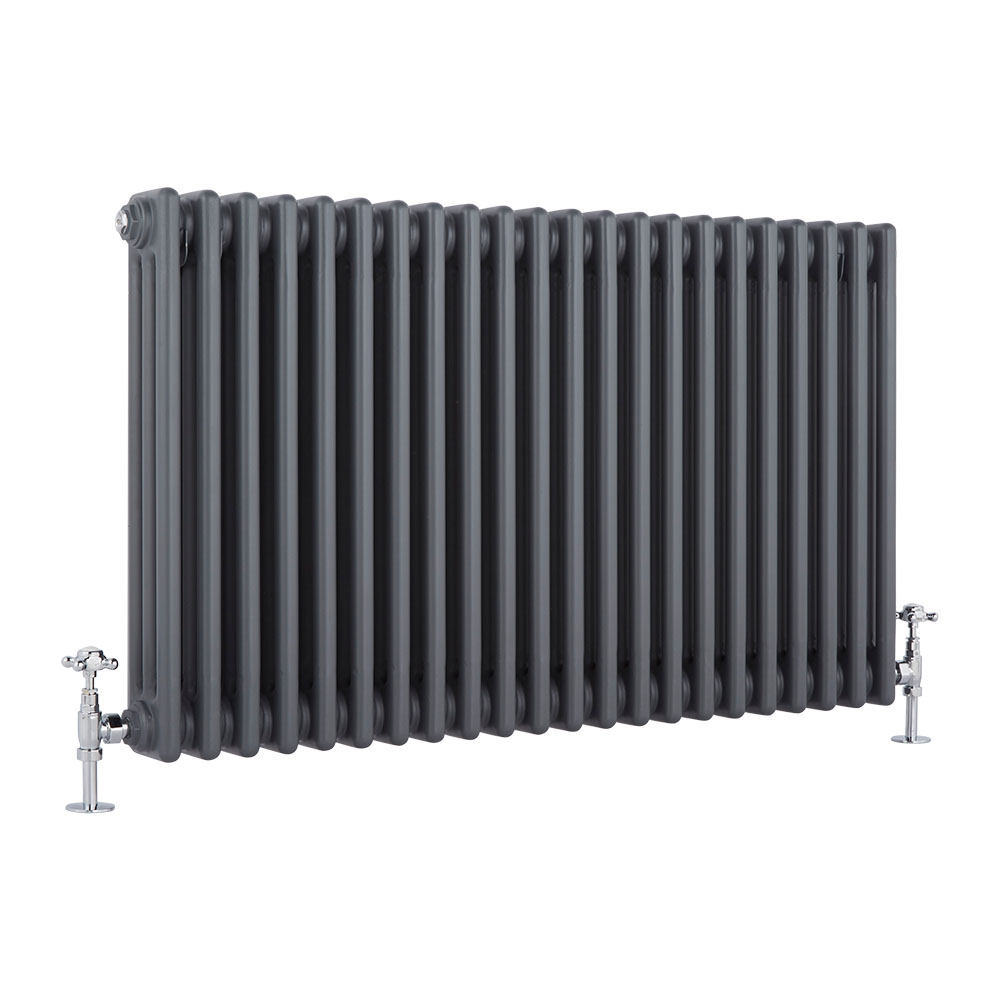 Milano Windsor - Traditional Anthracite 3 Column Radiator 600mm x 990mm (Horizontal)
