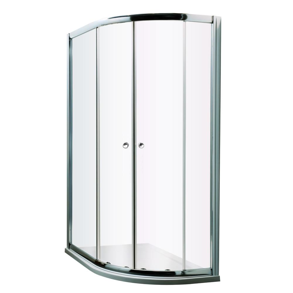 Milano Hutton 1000x800mm Offset Shower Enclosure 5mm