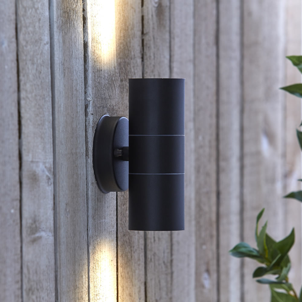 Biard Stainless Steel Up/Down Wall Light - Black