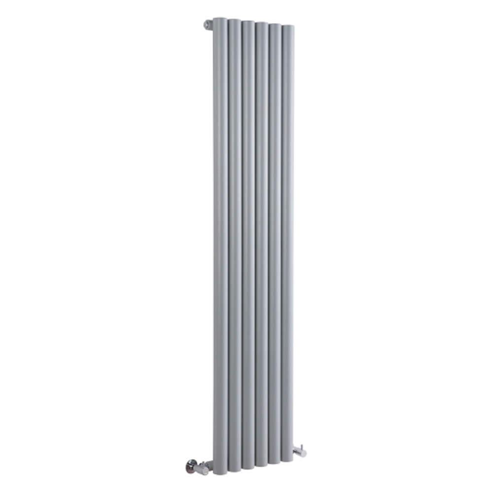 Milano Java - Silver Vertical Round Tube Designer Radiator 1600mm x 354mm