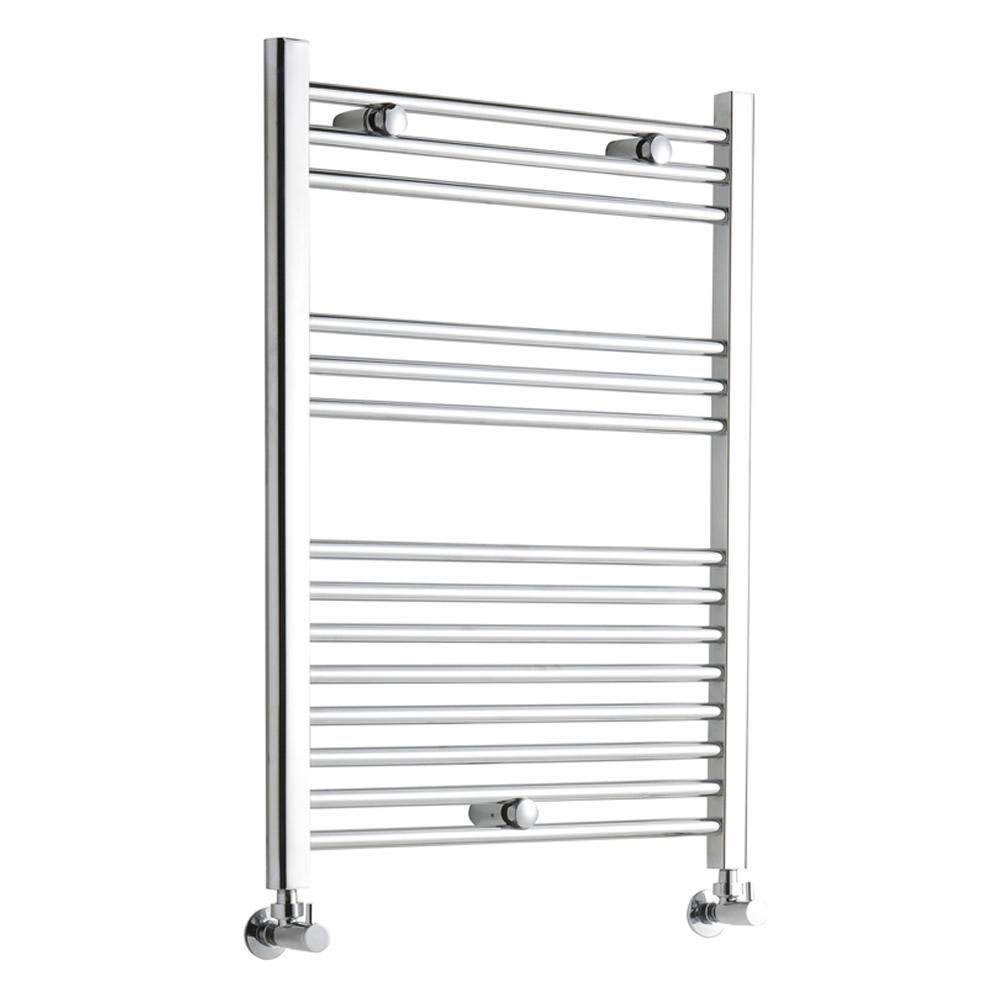 Kudox Flat Electric Towel Radiator: Premium Chrome Flat Heated Towel Rail