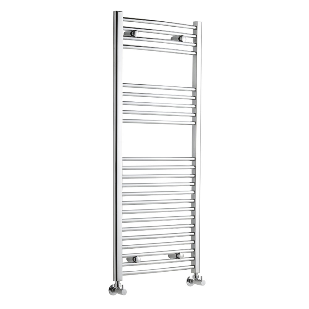 Kudox - Premium Chrome Curved Heated Bathroom Towel Radiator Rail 1200mm x 500mm