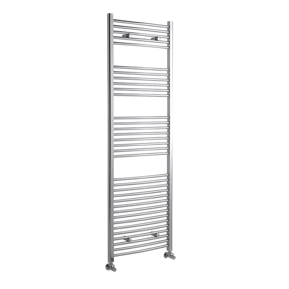 Kudox - Premium Chrome Curved Heated Bathroom Towel Radiator Rail 1800mm x 600mm