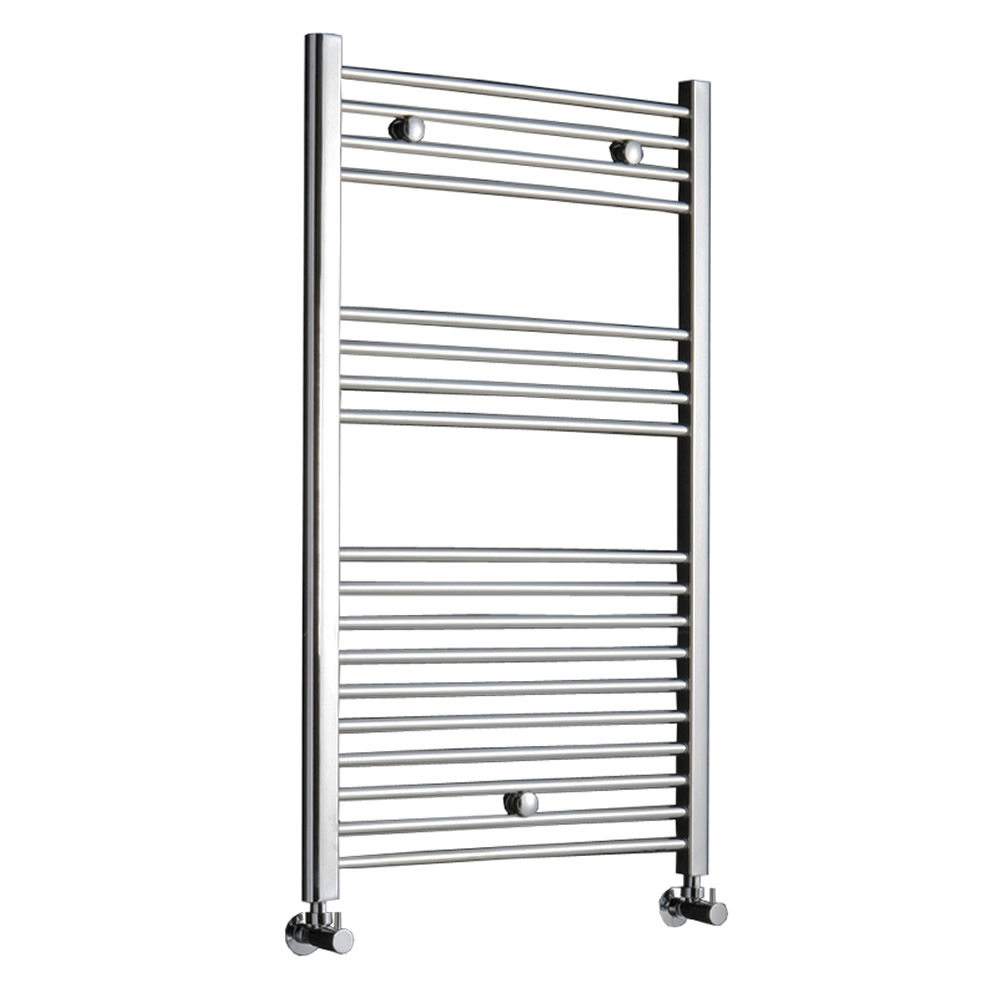 Kudox - Premium Chrome Flat Heated Towel Rail - 1000mm x 600mm