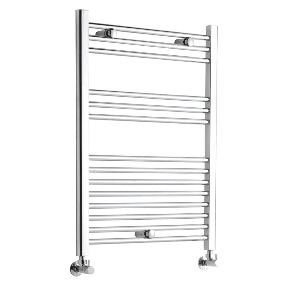 Kudox - Premium Chrome Flat Heated Bathroom Towel Radiator Rail 800mm x 600mm