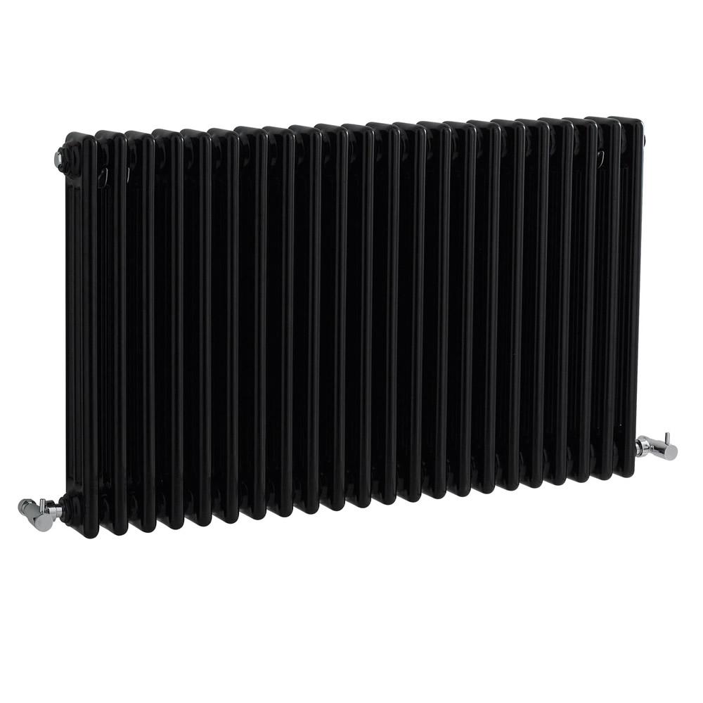 Milano Windsor - Black Horizontal Traditional Column Radiator - 600mm x 1010m (Double Column)