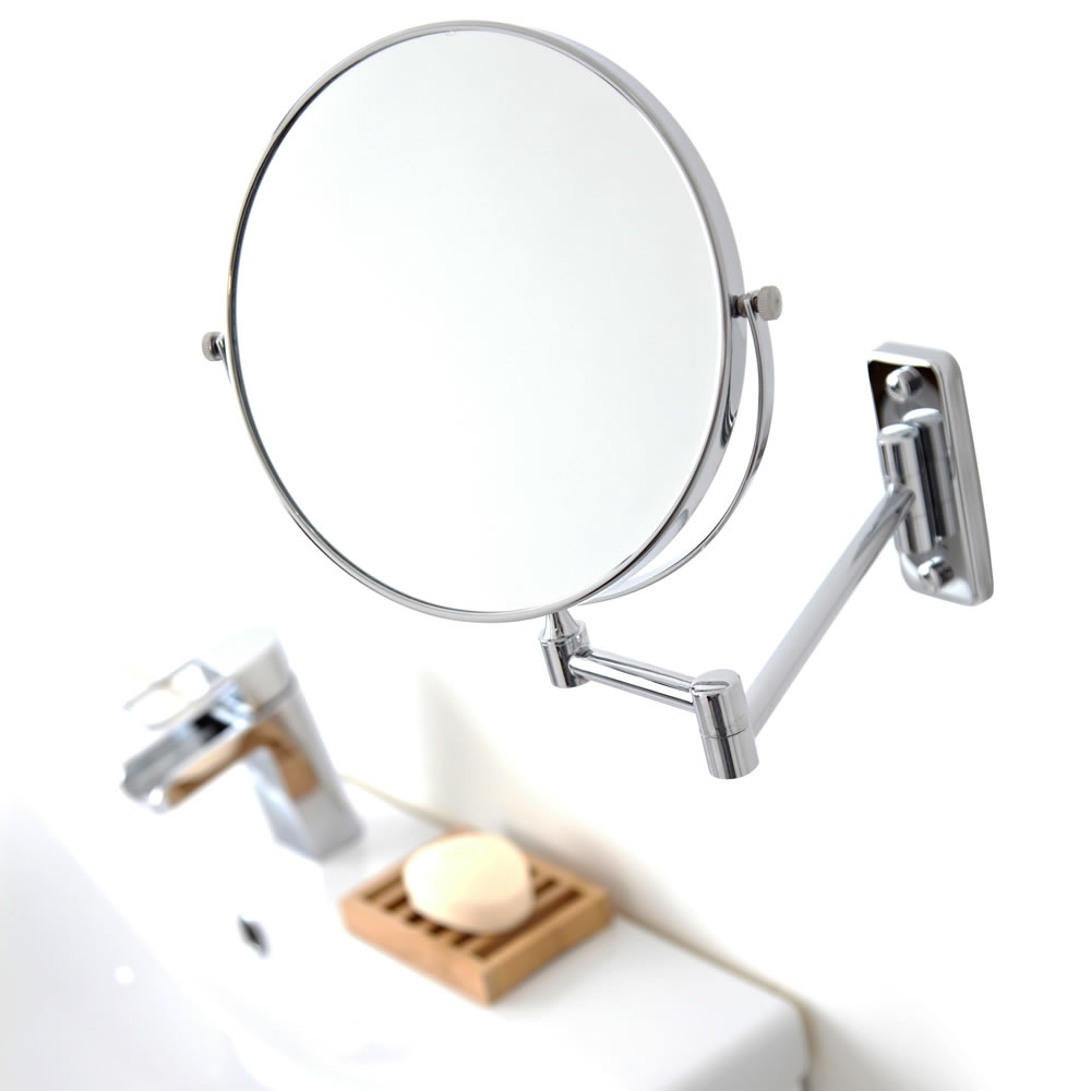 "Milano Chrome 8"" Shaving Mirror"