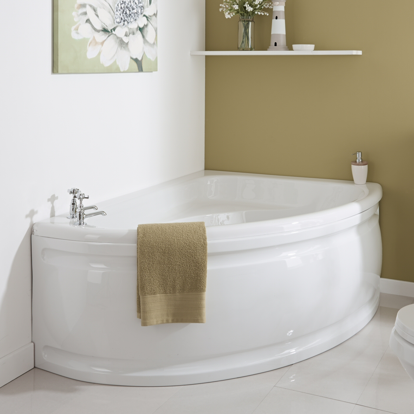 Milano 1500 x 1020mm Corner Bath Right Hand and Panel