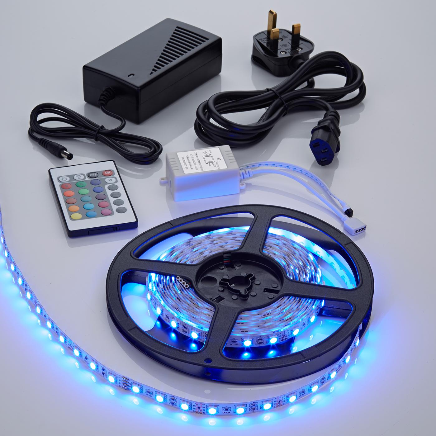 Biard LED IP20 5m 5050 Plug & Play Strip Light Kit - RGB