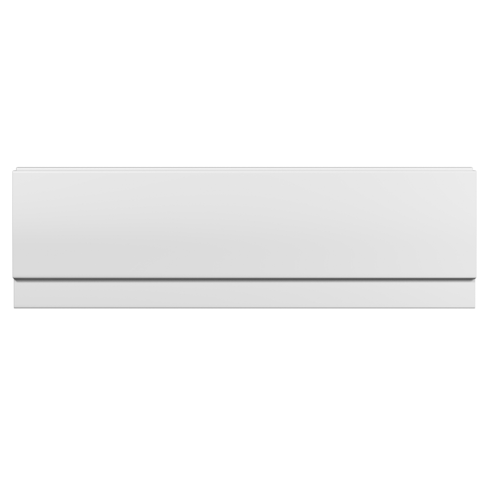 Milano - 1500mm Modern Acrylic Bath Front Panel - White