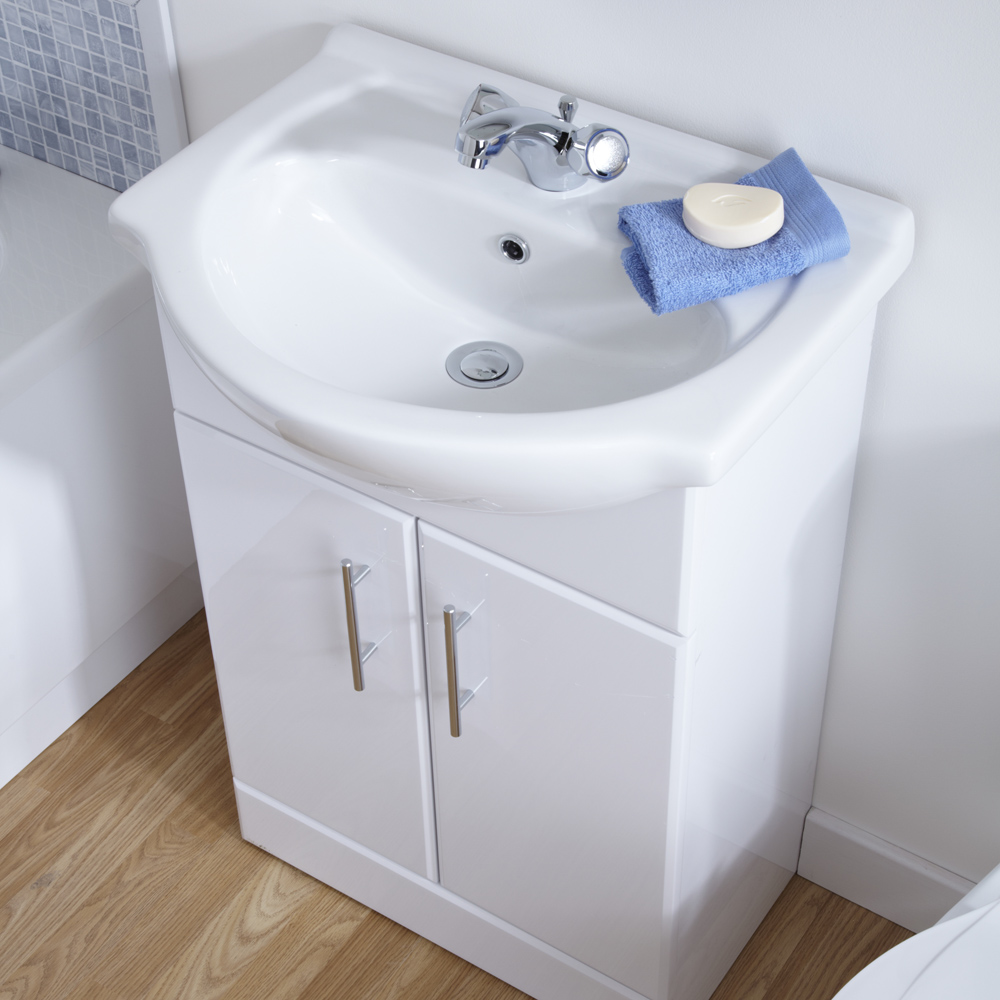 Premier 650mm Vanity Unit Cabinet and Basin