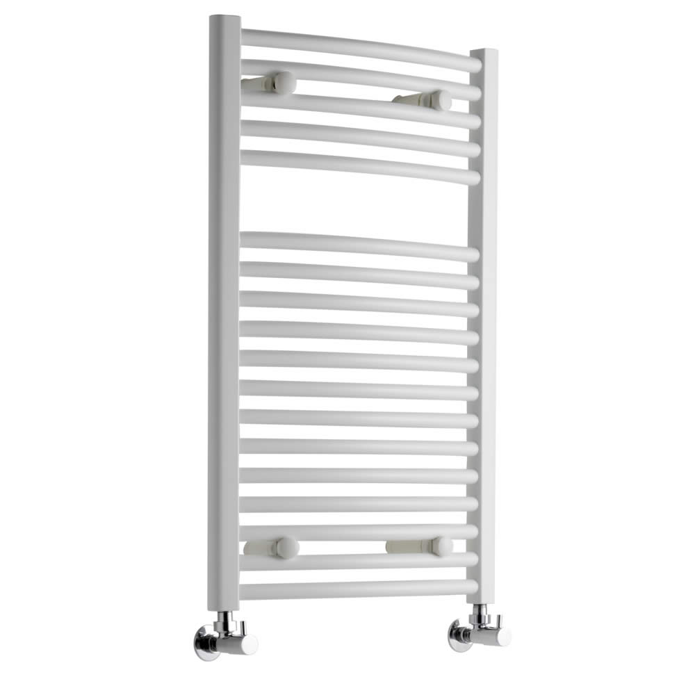 Sterling Premium White Curved Heated Towel Rail 800mm x 500mm