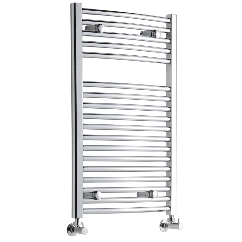 Sterling Premium Chrome Curved Heated Towel Rail 800mm x 500mm