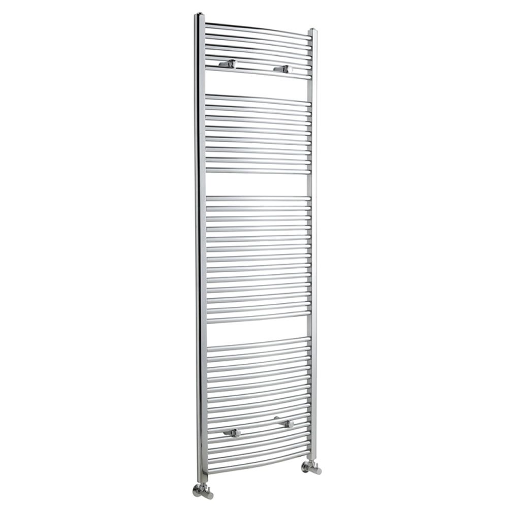 Sterling Premium Chrome Curved Heated Towel Rail 1800mm x 600mm