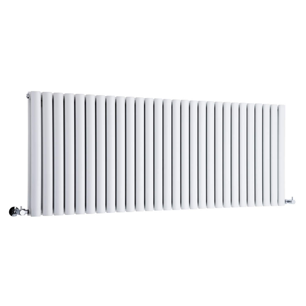 Milano Aruba - Luxury White Horizontal Designer Double Radiator 635mm x 1645mm