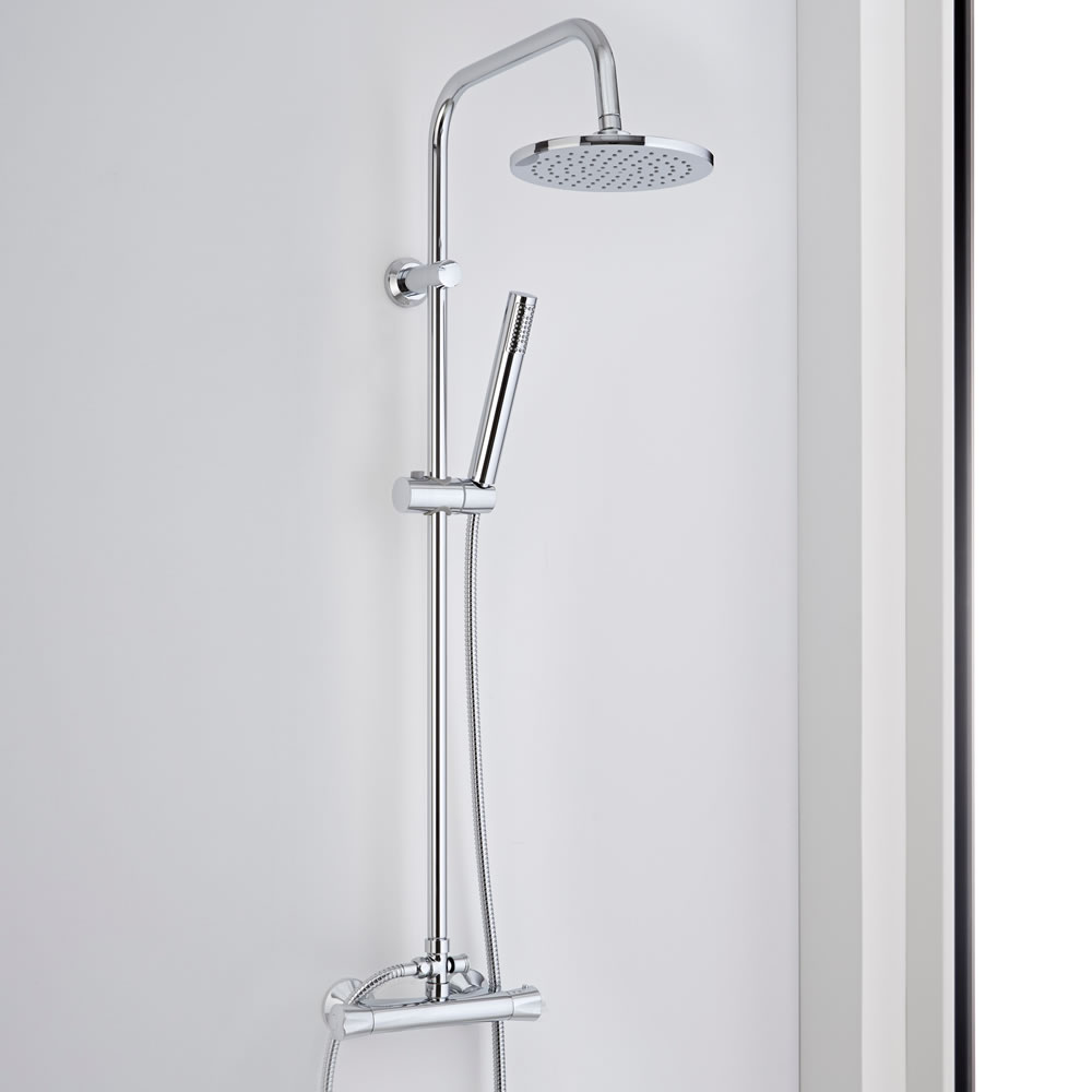 Milano Thermostatic Bar Shower Mixer Shower Set with Round Head