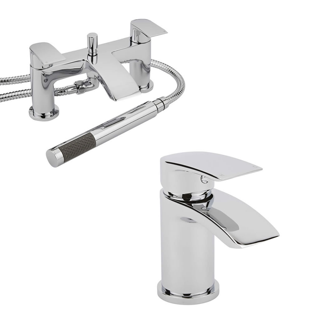 Milano Razor Basin & Shower Bath Mixer Tap Set