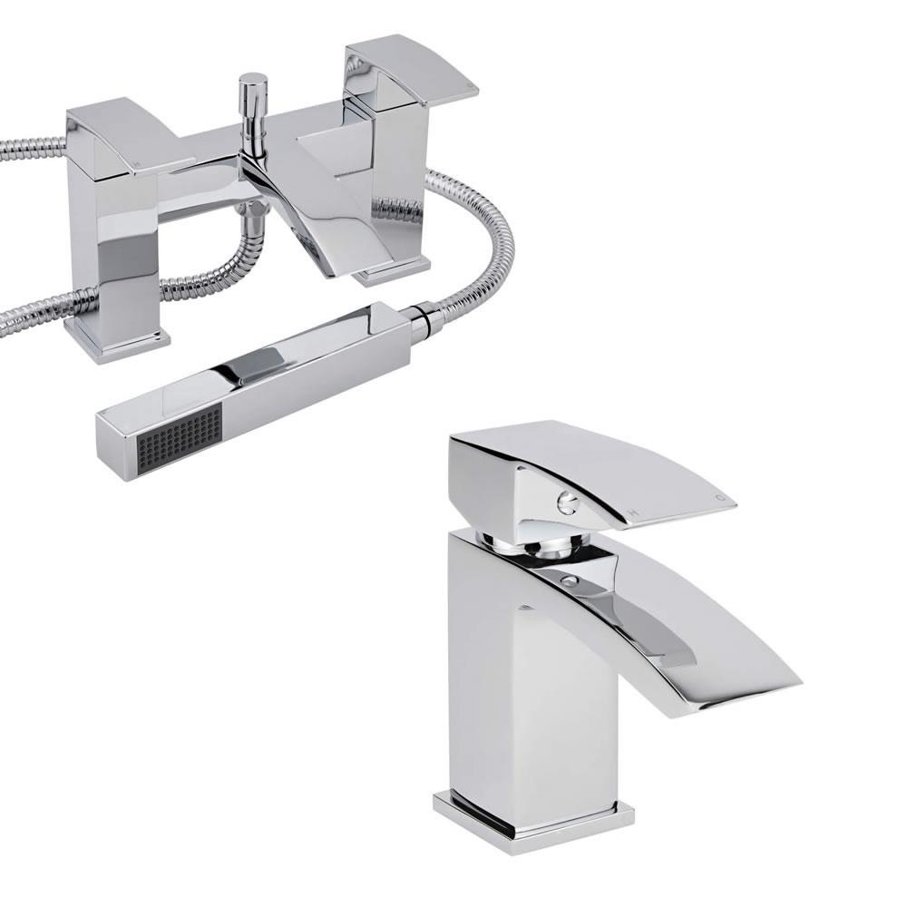 Milano Wick Basin & Shower Bath Mixer Tap Set