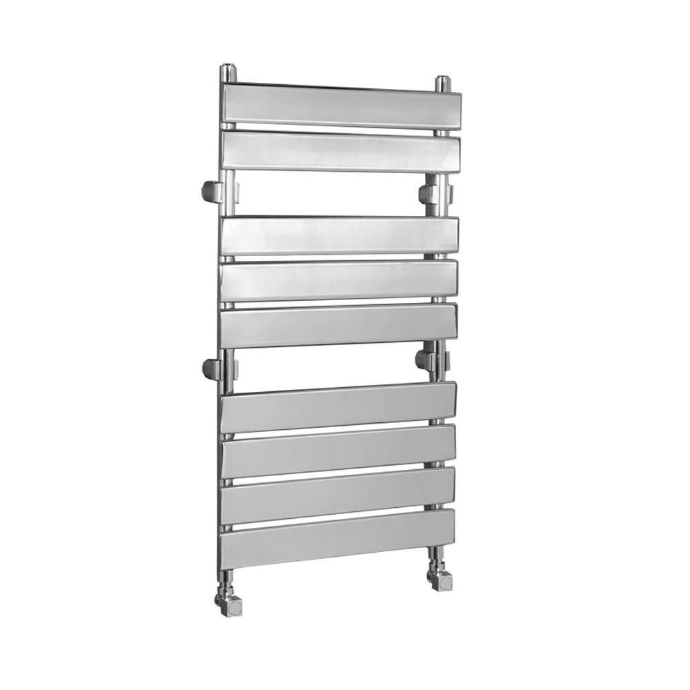 Kudox - Signelle Designer Flat Panel Chrome Plated Towel Radiator Rail 950mm x 500mm