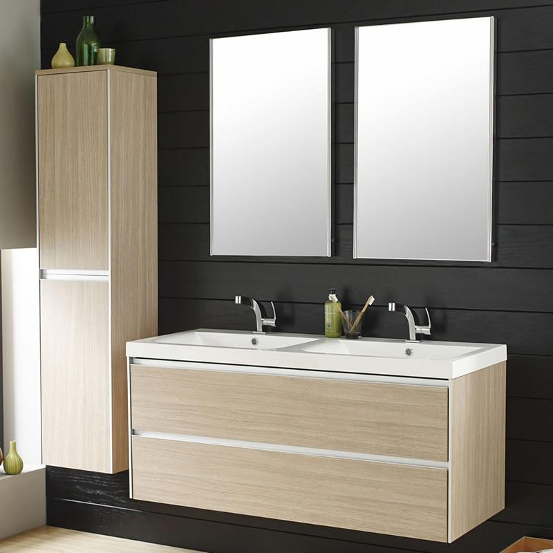 Erin Light Oak Double Basin Furniture Pack 1200mm