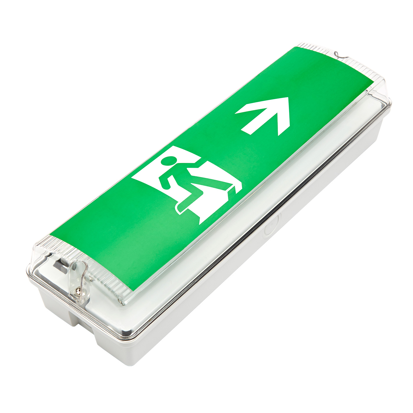 Biard LED 7.5W Emergency Bulkhead Exit Sign Maintained/Non-Maintained - Right Arrow