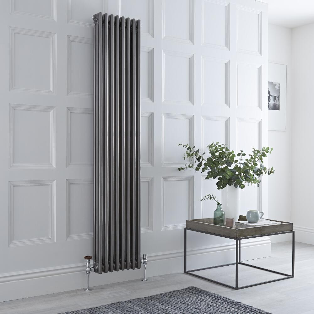 Milano Windsor - Lacquered Metal Vertical Traditional Column Radiator - 1800mm x 380mm (Triple Column)