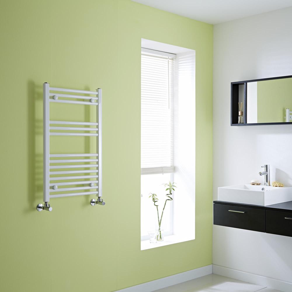 Milano Flat White Heated Towel Rail 800mm x 500mm