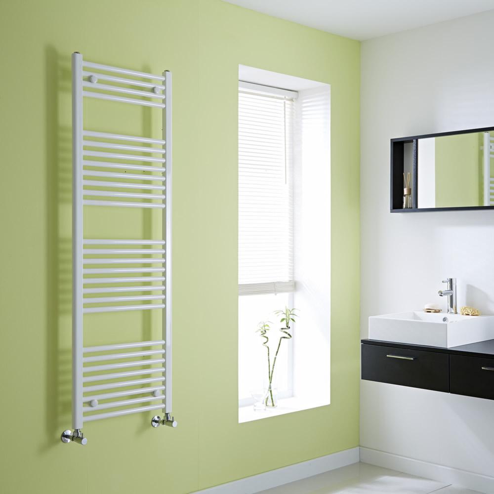 Milano Flat White Heated Towel Rail 1500mm x 500mm