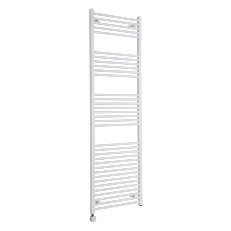Milano Calder Electric - Flat White Heated Towel Rail 1800mm x 600mm