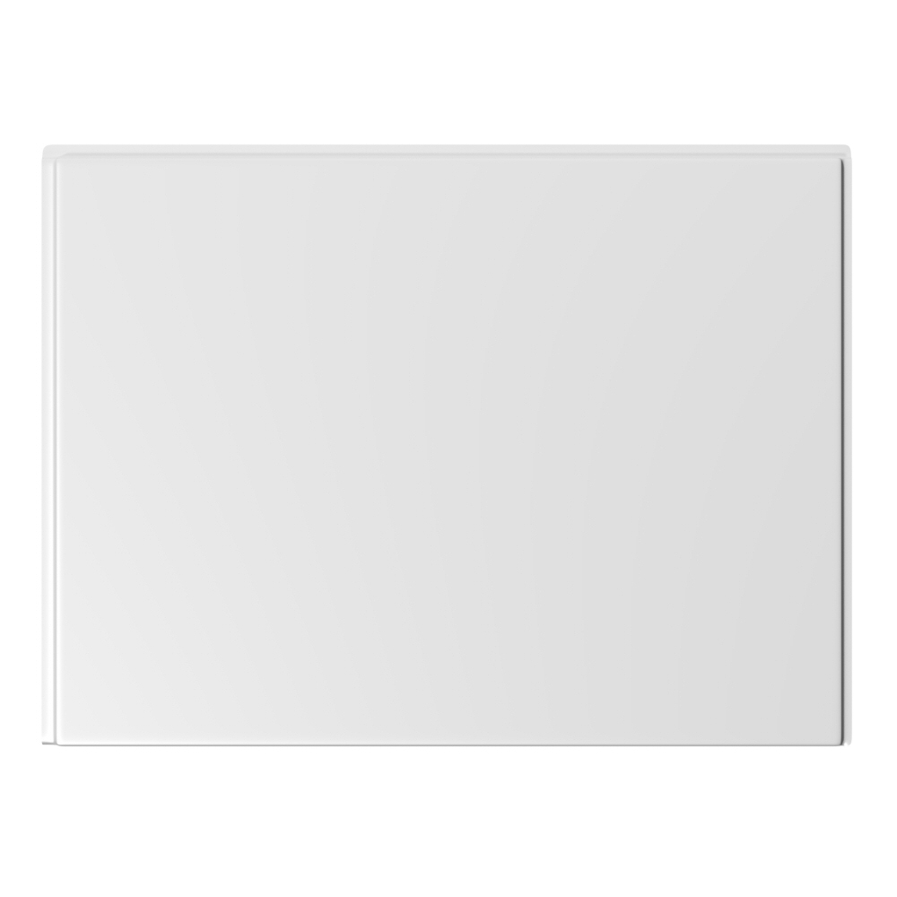 Milano - 750mm Modern Bath End Panel - White
