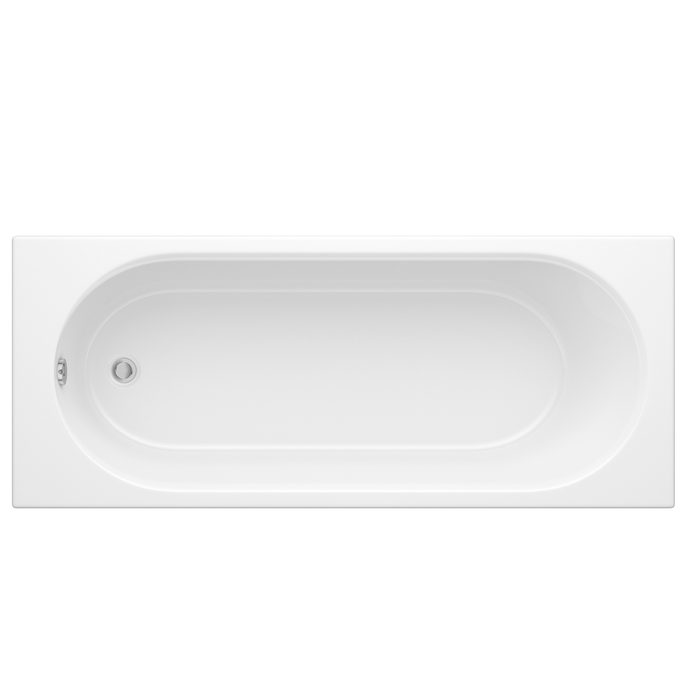 Milano - 1700 x 750mm Round Single Ended Bath