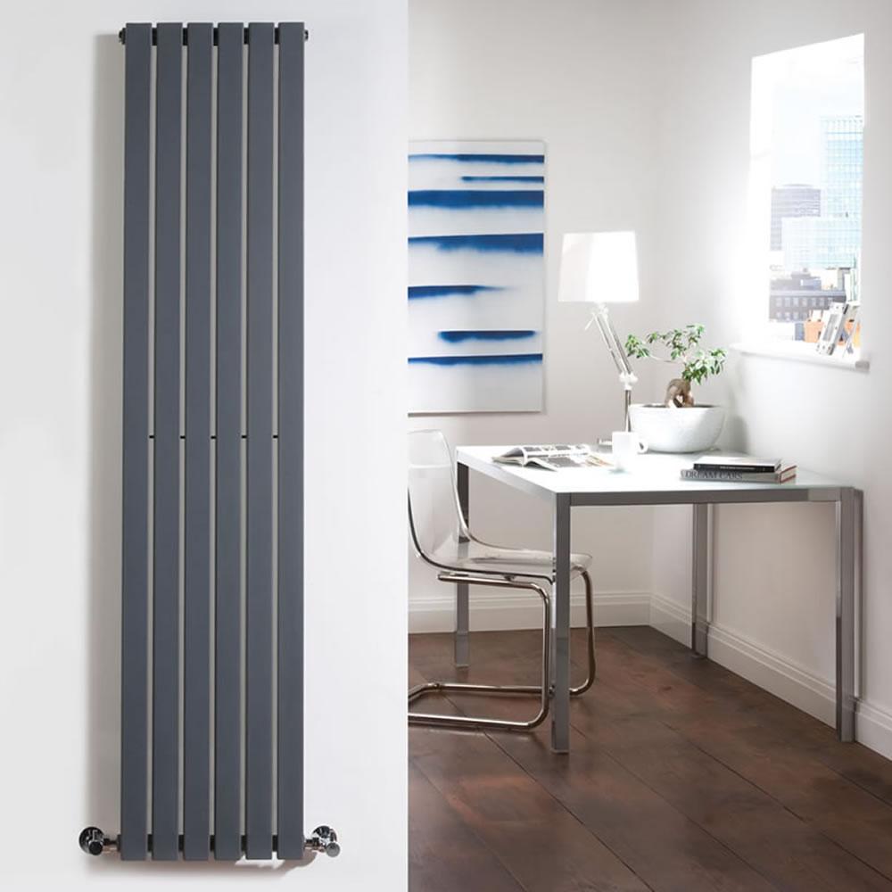 Milano Capri - Anthracite Vertical Flat Panel Designer Radiator 1780mm x 354mm