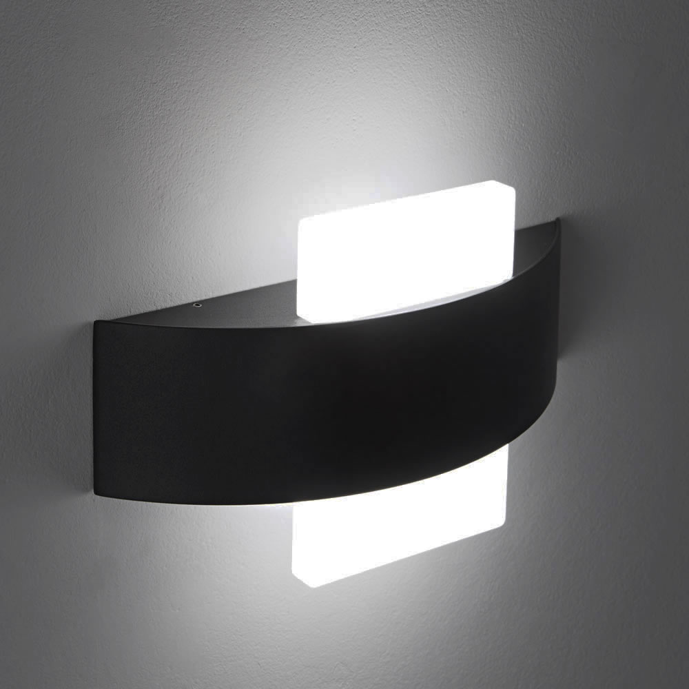 Biard Aqua Square LED Wall Light - Black