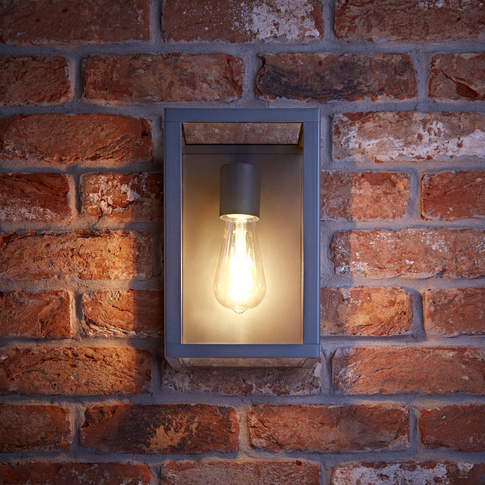 Biard Bonn IP54 Box Outdoor Wall Light - Anthracite