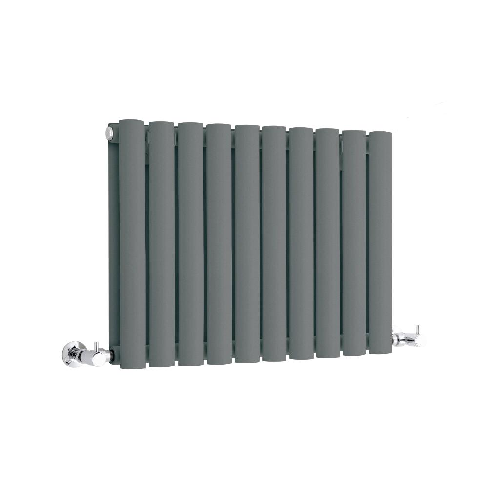 Milano Anthracite Horizontal Designer Radiator 400mm x 595mm (Double Panel)