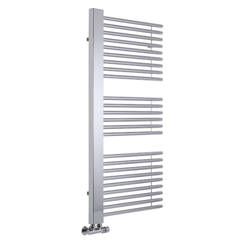 Lazzarini Way - Grado - Chrome Designer Heated Towel Rail - 1190 x 600mm