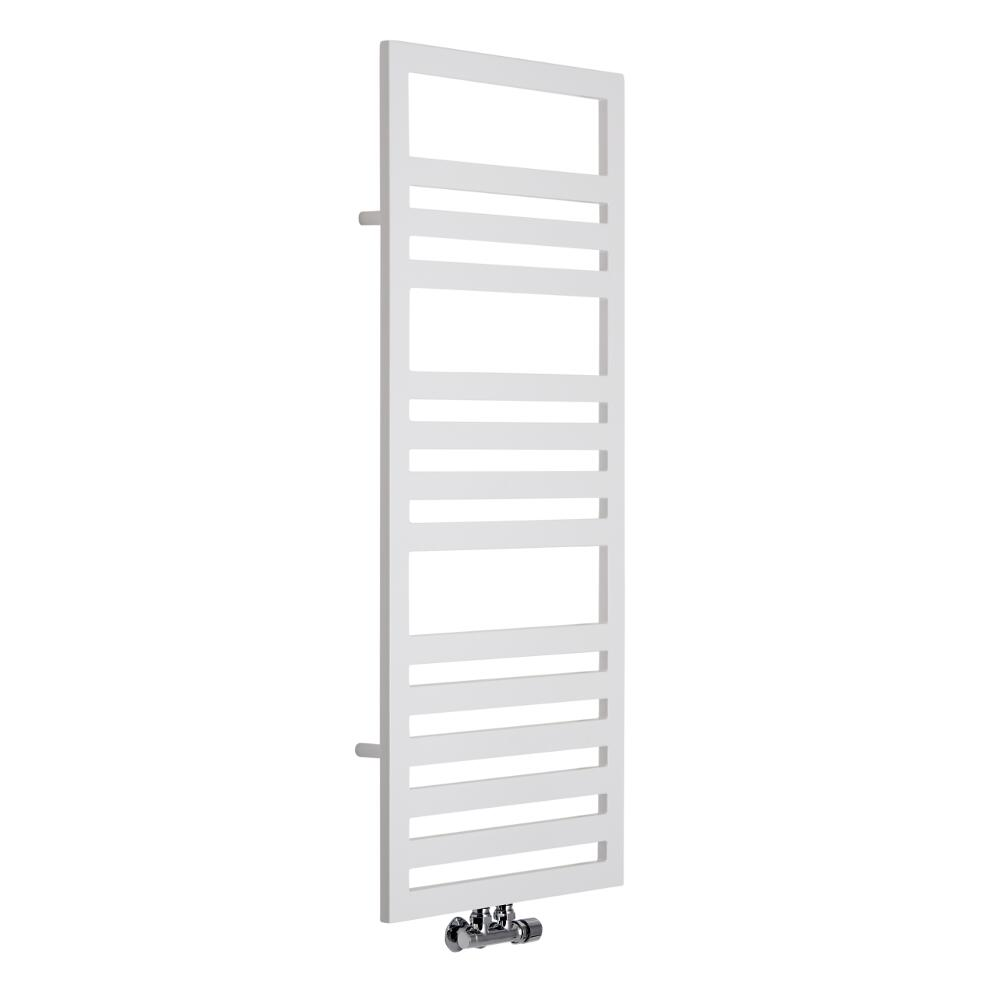 Lazzarini Way - Urbino - White Designer Heated Towel Rail - 1200 x 500mm