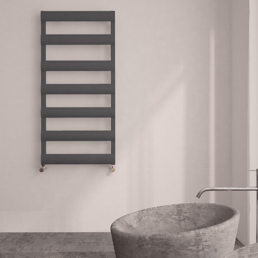 Milano Passo - Aluminium Designer Heated Towel Rail 1190 x 500mm Anthracite