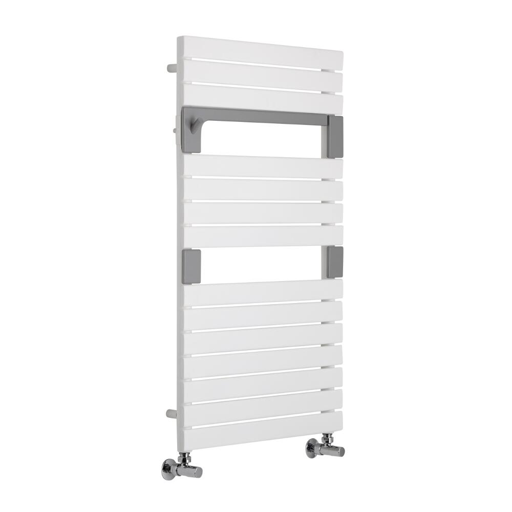 Lazzarini Way - Torino - Mineral White Designer Heated Towel Rail - 952 x 550mm