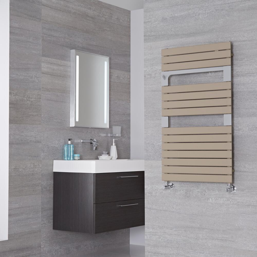 Lazzarini Way - Torino - Mineral Quartz Designer Heated Towel Rail - 952 x 550mm