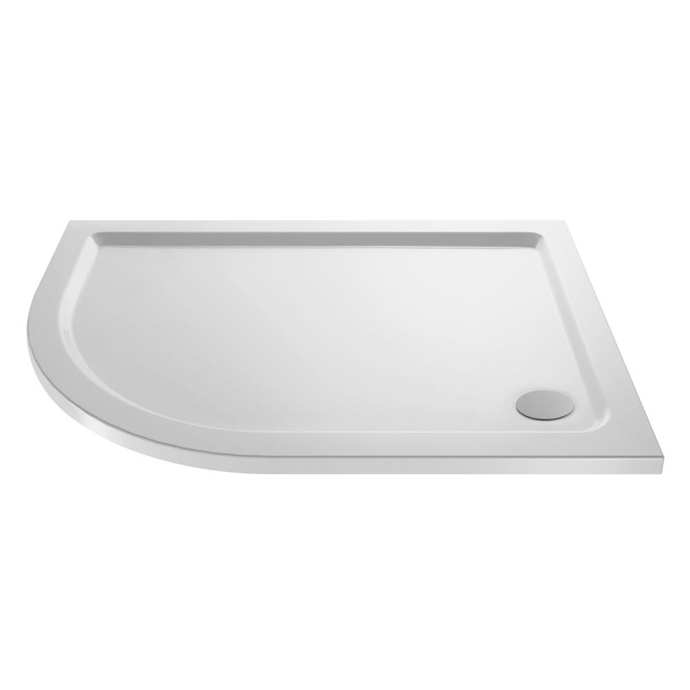 Pearlstone Offset Quadrant shower tray LH 1000 x 800mm