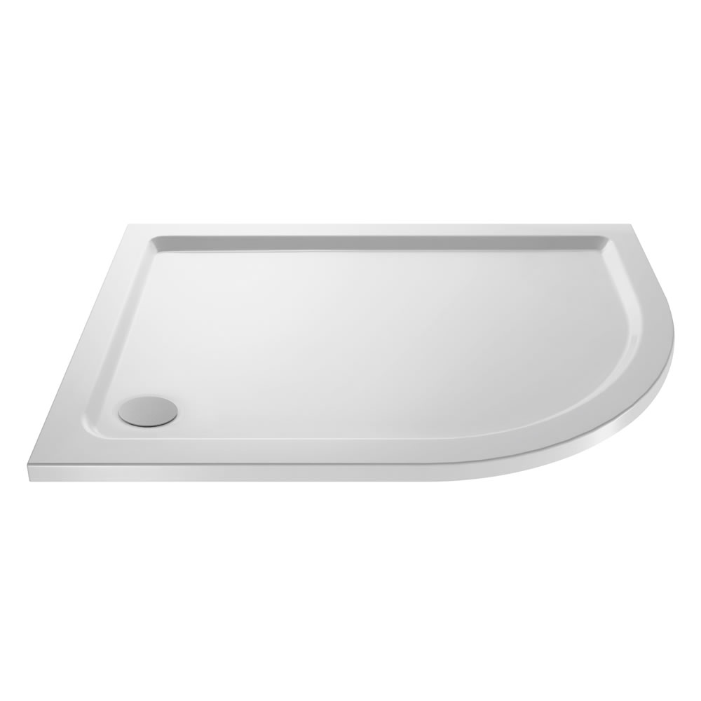 Pearlstone Offset Quadrant shower tray RH 1000 x 800mm