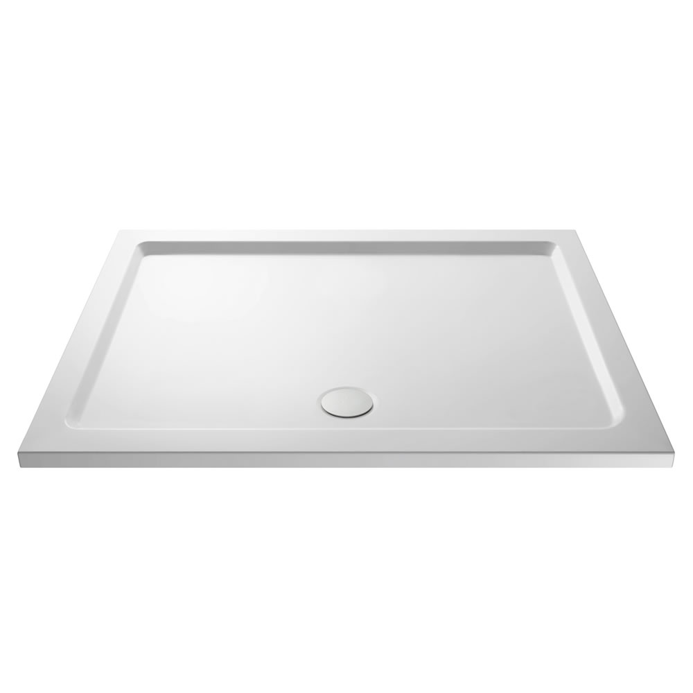 Pearlstone Rectangular Walk In Shower Tray with Drying Area 1700 x 700mm