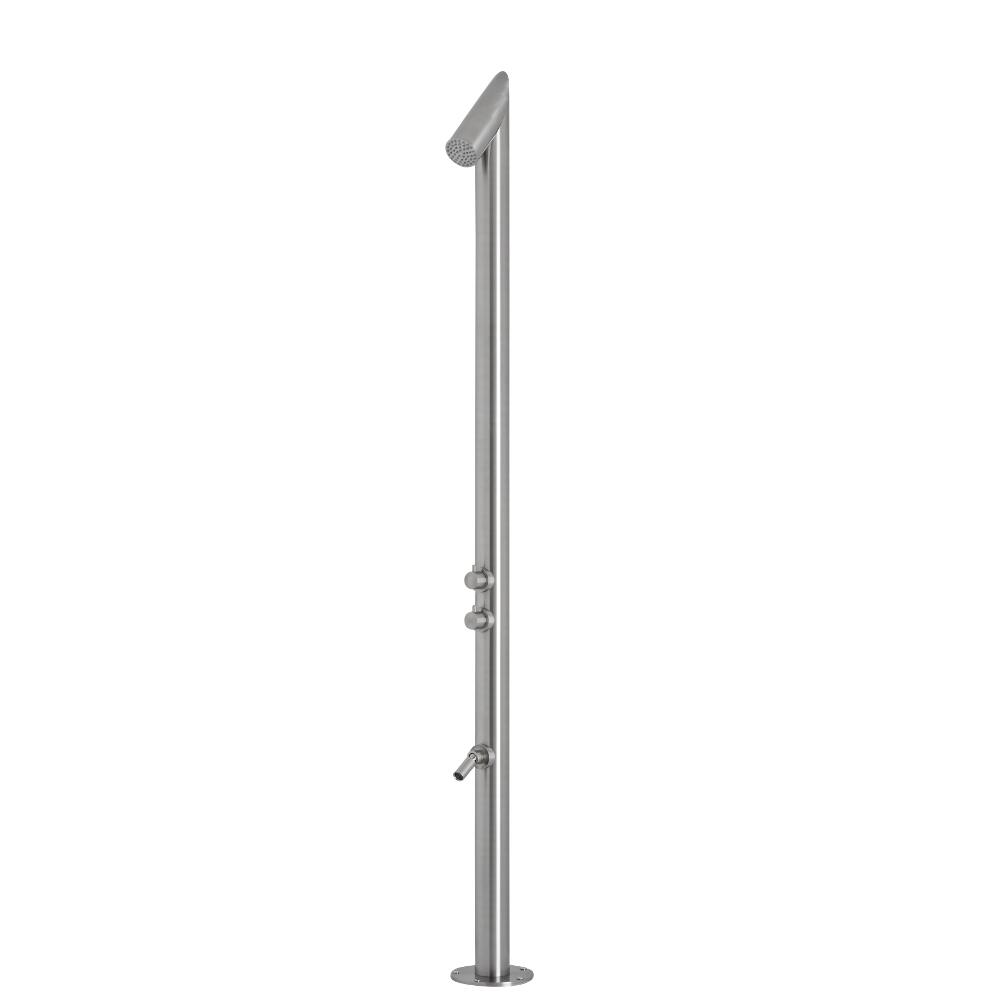Milano Isla - Chrome Modern Freestanding Outdoor Shower