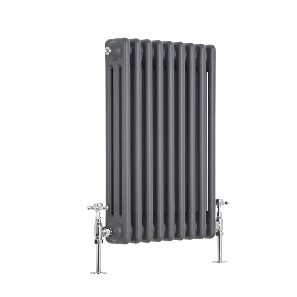 Milano Windsor - 3 Column Radiator - Anthracite 600mm x 405mm