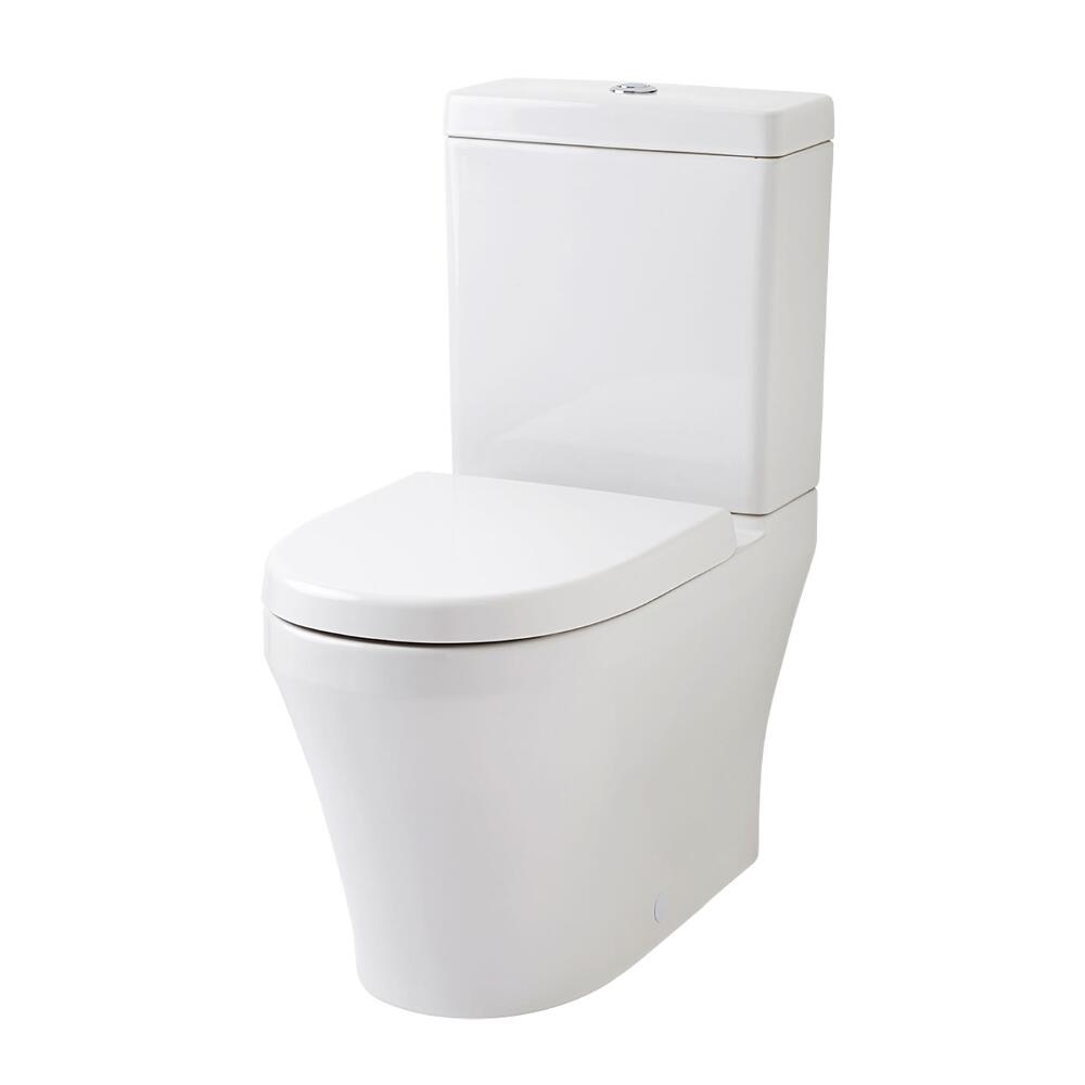 Milano Overton Flush to Wall Toilet, Cistern & Soft Close Seat